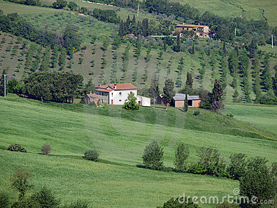 The beautiful landscape of Tuscany.