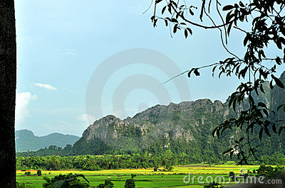 Beautiful landscape of vang vieng,laos