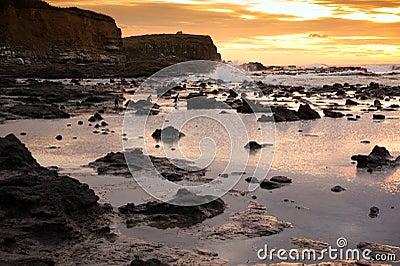 Beautiful landscape of Waikawa bay in sunrise times, South Island, New Zealand