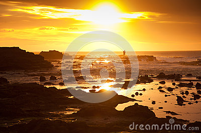 Beautiful landscape of Waikawa bay in sunrise times, South Island, New Zealand