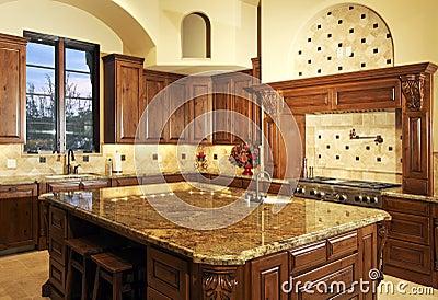 Beautiful Large Modern Home Kitchen Royalty Free Stock Photo Image 10106315