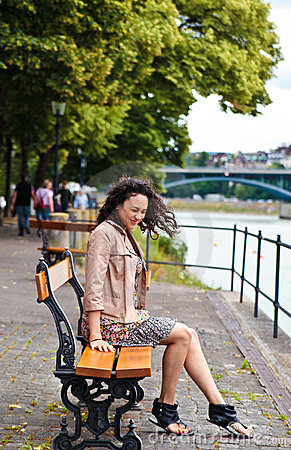 Free Beautiful Latina Having Fun In The Park Stock Images - 20227864