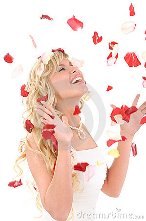 Free Beautiful Laughing Bride. Stock Photography - 13442802