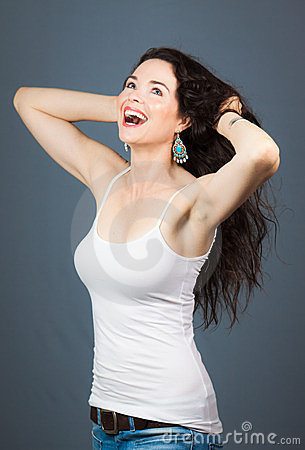Beautiful laughing woman