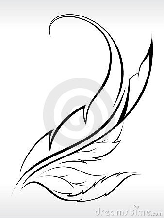 Beautiful Leaf Abstract With Outline Stock Photos Image