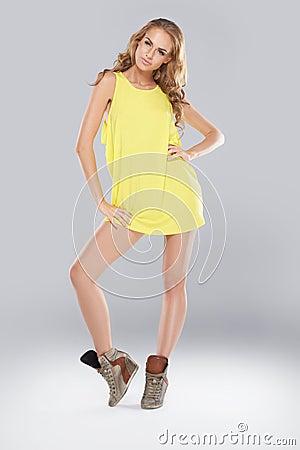 Beautiful leggy fashion model