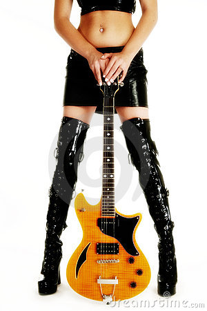 Free Beautiful Legs And Guitar Royalty Free Stock Photography - 3725657