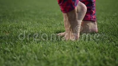 Beautiful legs doing tiptoes feet warm-up exercise stock footage