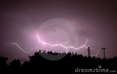 Beautiful lightning