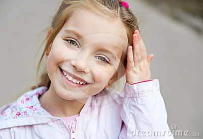 Beautiful liitle girl close-up Stock Photo