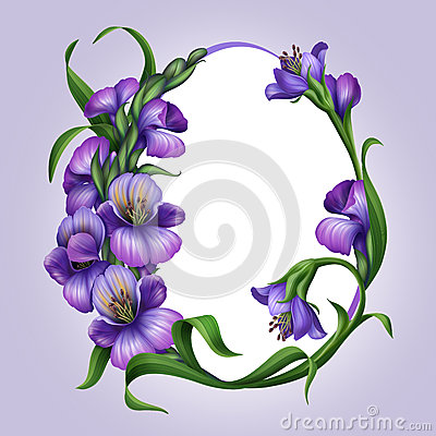 Free Beautiful Lilac Spring Flowers. Easter Egg Frame Royalty Free Stock Photo - 29767015