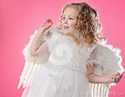 Beautiful Little Angel Girl Stock Image - Image: 14392011