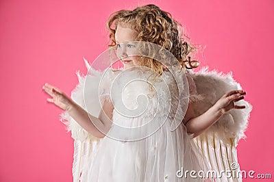Beautiful little angel girl i