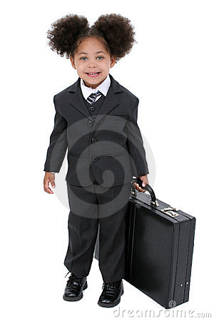 Free Beautiful Little Business Woman With Briefcase Stock Photo - 198020