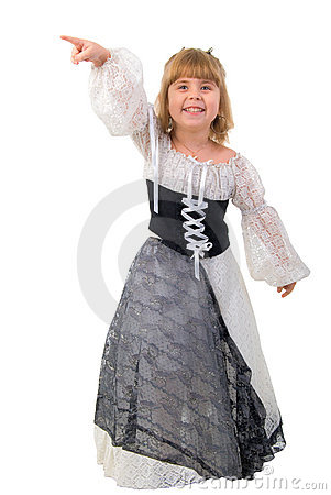 Beautiful Little Girl In A Fairy Costume.