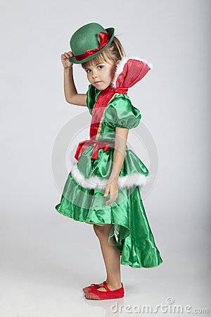 Beautiful little girl on Saint Patrick s Day