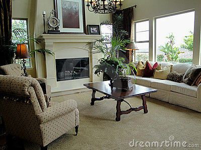 Beautiful Living Room Royalty Free Stock Photos - Image: 9560728