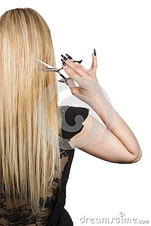 Beautiful long blond hair
