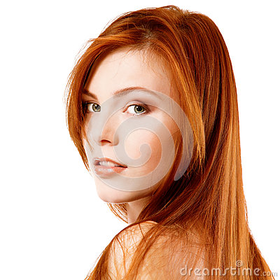 Free Beautiful Long Red Healt Hair Of Young Attractive Woman Stock Photography - 36496422