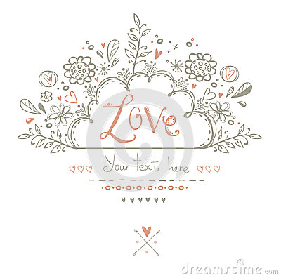 Free Beautiful  Love Card In Vintage Style.Love Background.Valentine Day Card Postcard. Royalty Free Stock Image - 51434166