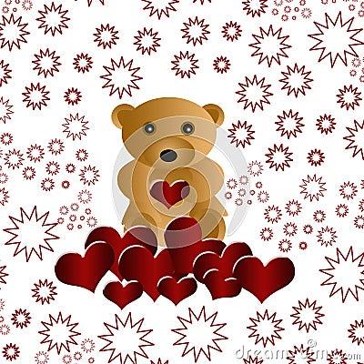 Beautiful loving teddy bear