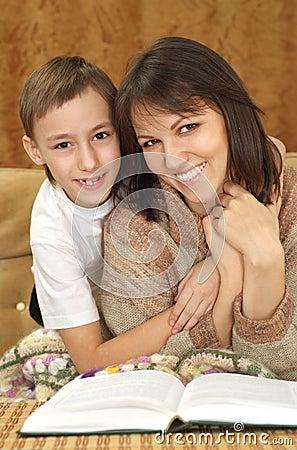 Beautiful luck Caucasian mum