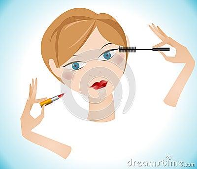 Beautiful makeup girl