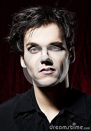 Beautiful man before becoming a vampire
