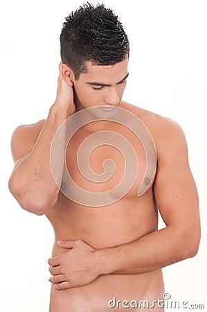 Beautiful man torso without shirt