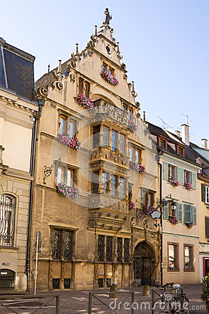 Beautiful medieval house in Colmar city, France