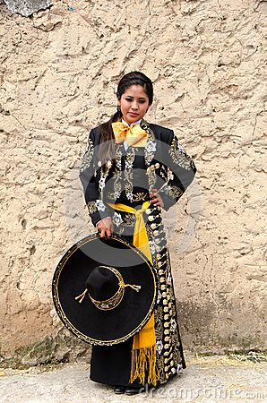 Beautiful Mexican woman in Traditional outfit