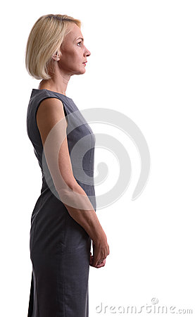 Free Beautiful Mid Aged Woman. Profile View Royalty Free Stock Photography - 96026037