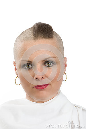 Free Beautiful Middle Age Woman Cancer Patient Without Hair Royalty Free Stock Image - 91370686