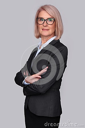Free Beautiful Middle Aged Business Woman Royalty Free Stock Images - 100347009