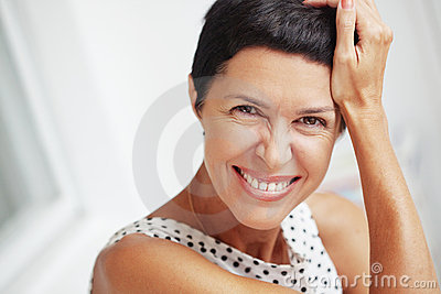 Beautiful middle aged woman