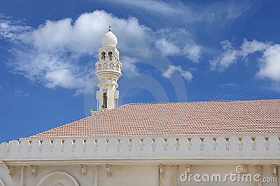 Beautiful minaret of Sheikh Isa Bin Ali Mosque