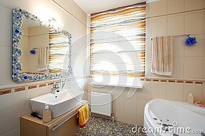 Beautiful mirror and washstand