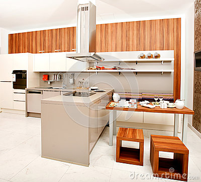 Modern kitchen stock photos image 29867613 for Nice modern kitchens