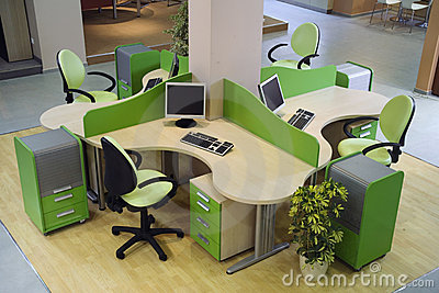 Beautiful and modern office interior design.