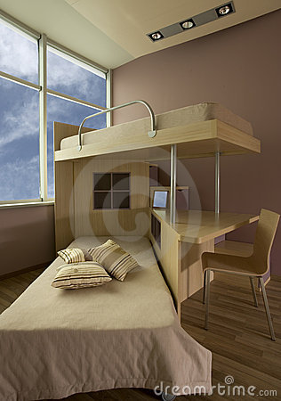 Beautiful and modern young room interior design.