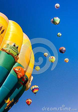 Beautiful Morning and Hot Air Balloons Editorial Photo