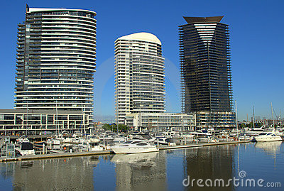 Beautiful morning at the Melbourne Docklands