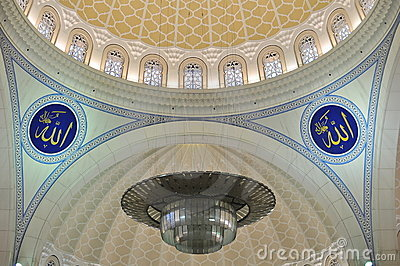 The beautiful mosaic design of Wilayah mosque