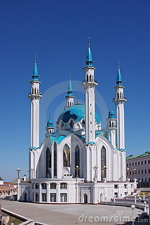 The beautiful mosque is in city Kasan