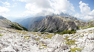 Beautiful mountain panorama - marmolada glacier