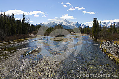 Beautiful mountain river scene