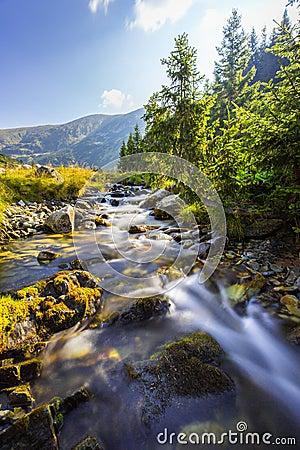 Free Beautiful Mountain Scenery In The Transylvanian Alps In Summer Stock Photos - 64305223