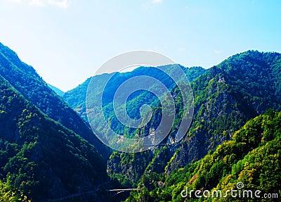 Beautiful mountain Transfagarasan valley