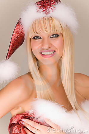 Beautiful mrs. Santa Claus