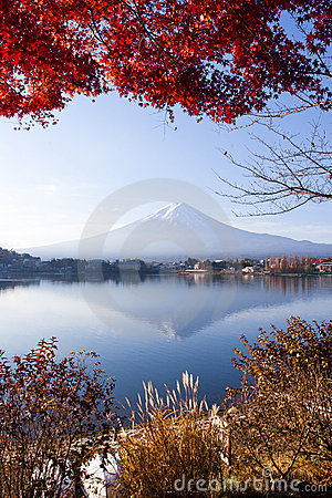 Beautiful mt Fuji in autumn, Japan
